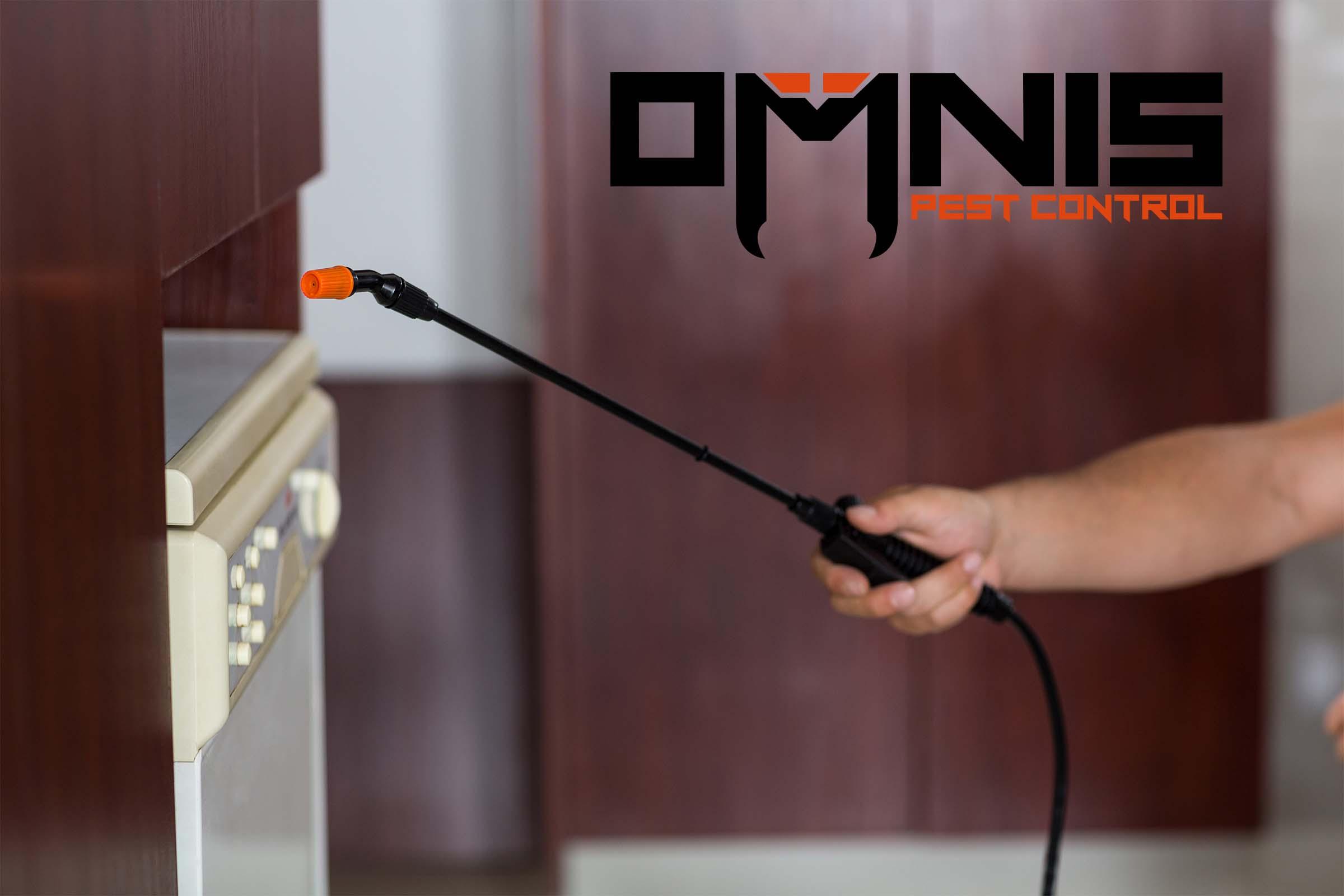 Omnis pest control spraying kitchen