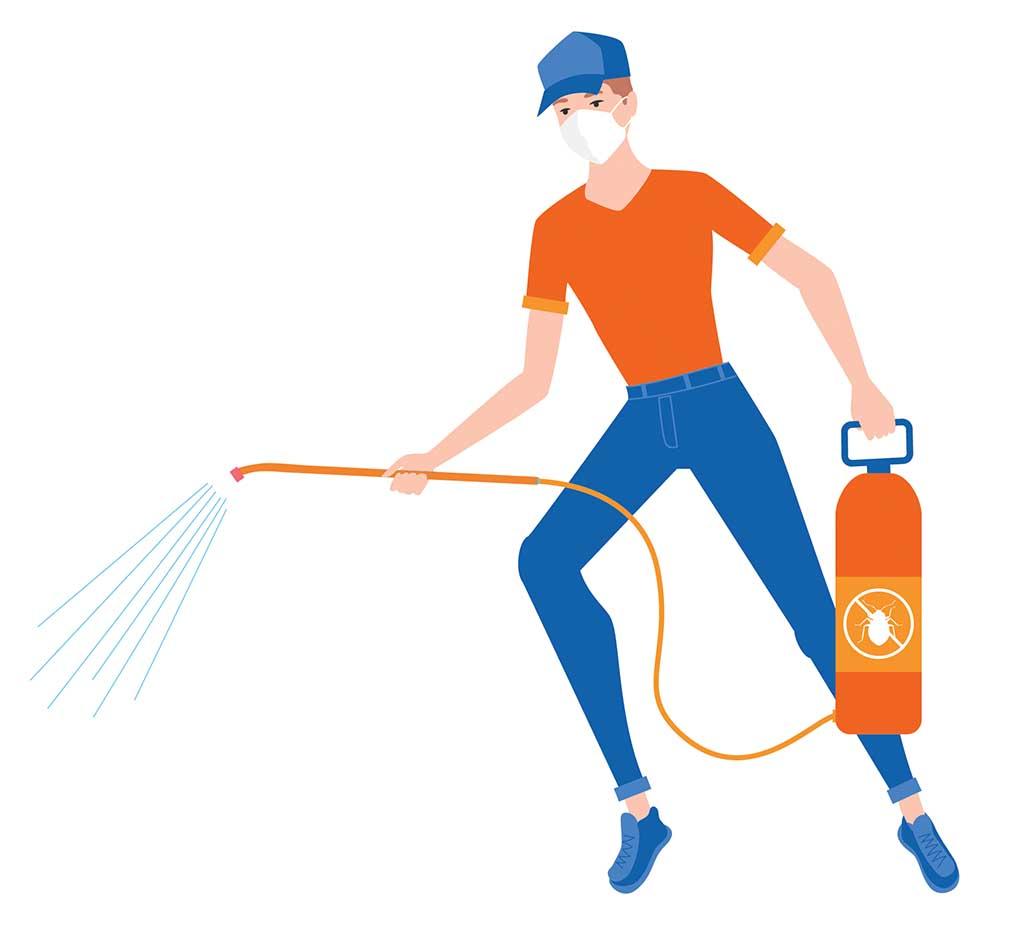OMNIS pest control treatment illustration